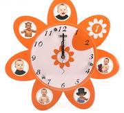 Часы настенные с фоторамками 1100 рублей