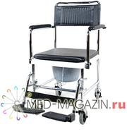 Кресло-каталка инвалидная с туалетным устройством 5019W2 (новая)