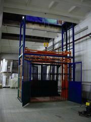 Подъемник грузовой ТИТАН шахтный для складского комплекса