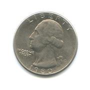 25 центов США 1980 г.